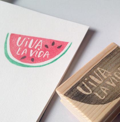 Sello sandía Viva la Vida (tributo a Frida Kahlo)