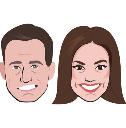 Emojis Matías Prats y Mónica Carrillo